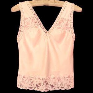 Vintage Christian Dior Lace Accent Blush Camisole
